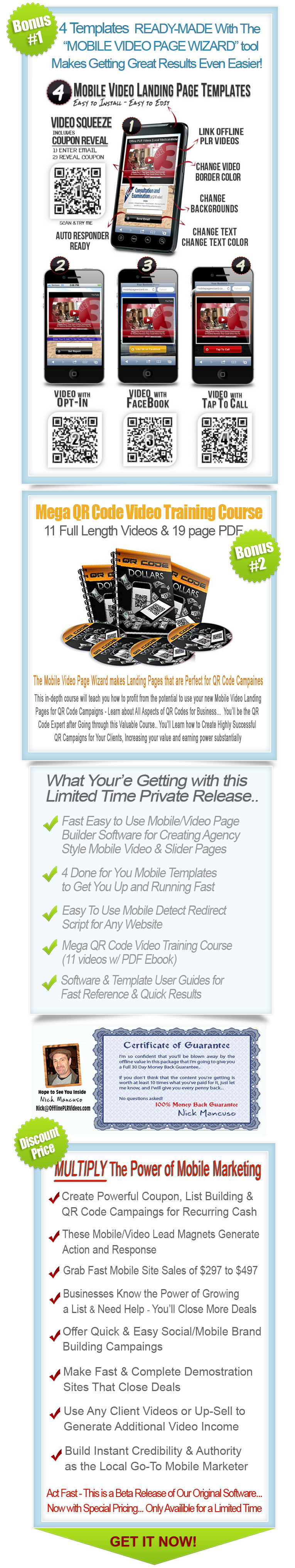 Mobile Landing Page Wizard